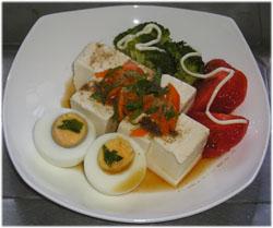 今夜はスペシャル豆腐サラダ