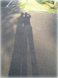 記念撮影 2人の影 その2