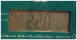 体脂肪率22%