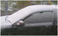 今朝は雪だよとうとう冬だべさ~