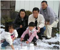 ちっちゃな雪だるまを作りました