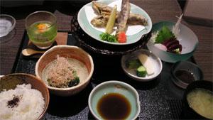 和食レストランで夕食