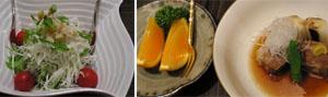 果物とホタテ&大根のサラダと豚の角煮