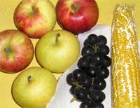 梨とリンゴ、ぶどう