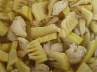 竹の子と鶏肉の味噌炒め