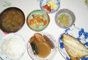 新米の夕飯