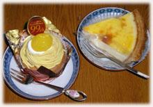 モンブランとチーズケーキ