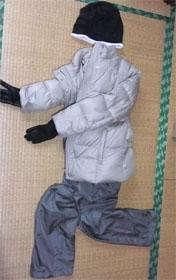 冬のウォーキングの服装