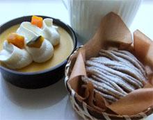 モンブランとかぼちゃのケーキ