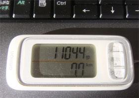 11044歩