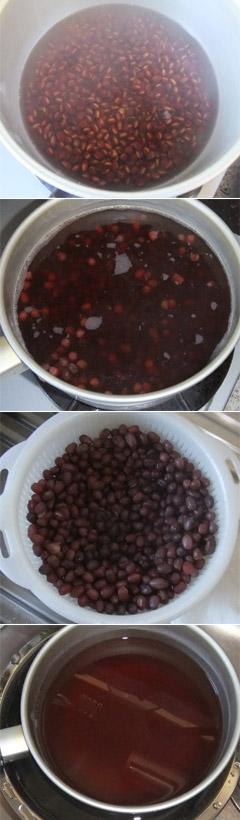 小豆を弱火でやさしくやさしく煮る