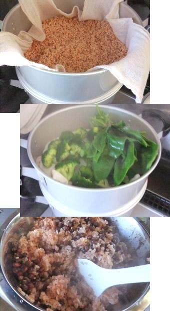 赤飯を作る