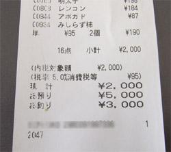 2000円レシート