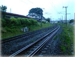 東北本線 こちらが東京方面よ
