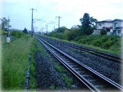 東北本線 こちらが仙台方面よ