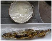 焼いたキュウリ魚ととろろ芋