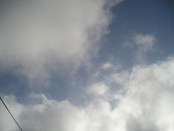 5月17日午後4時過ぎの福島県の端っこの空